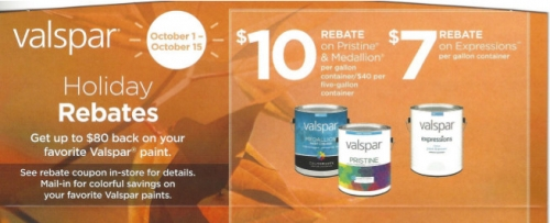 Holiday Rebates on Valspar Rebates