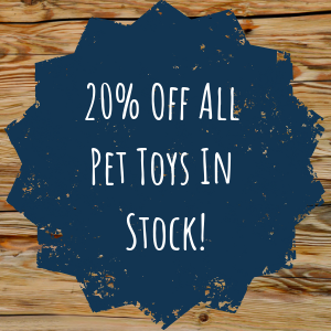 20% Off All Pet Toys In Stock!