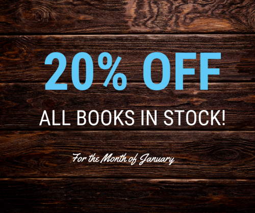 20% Off All Books in Stock!