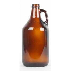64oz. Amber Growlers - Case of 6