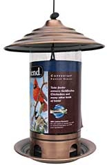 Feathered Friend Brushed Copper Tube Feeder