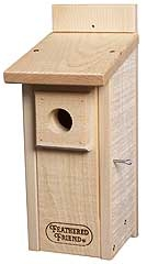 Feathered Friend Bluebird House, Unstained