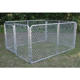 Stephens Pipe & Steel Complete Silver Kennel, 6ft X 8ft X 4ft