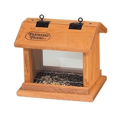Feathered Friend Hopper Bird Feeder - Small