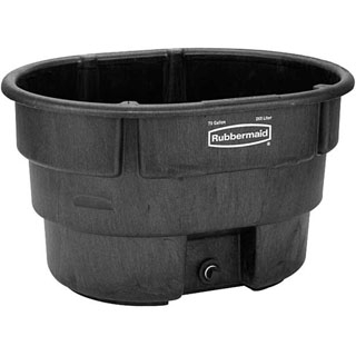 Rubbermaid Poly Stock Tank, 70 gallons