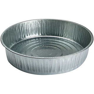Little Giant Galvanized Feed Pan, 13 quarts