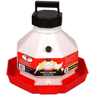 Little Giant Automatic Plastic Poultry Waterer, 3 gallons