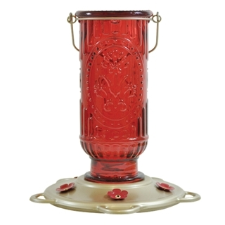 Classic Brands Red Vintage Hummingbird Feeder