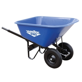 Master Gardener Yard Tek Pro Poly Wheelbarrow, 10 cu. ft.