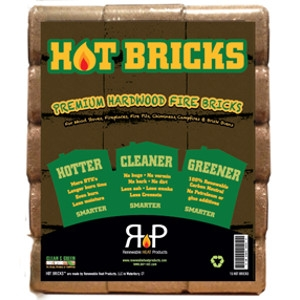 Hot Bricks Hardwood Fuel, 8 Pack