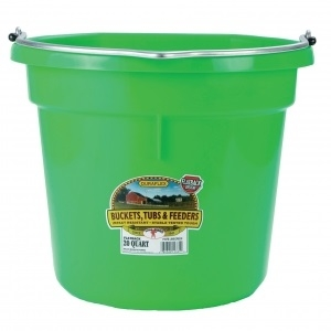Flat Back Plastic Bucket