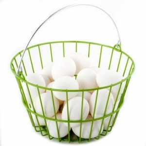 Green Fresh Egg Collecting Basket