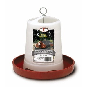 Little Giant Red Plastic Hanging Feeder, 3 lbs.