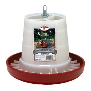 Little Giant Red Plastic Hanging Feeder, 11 lbs.