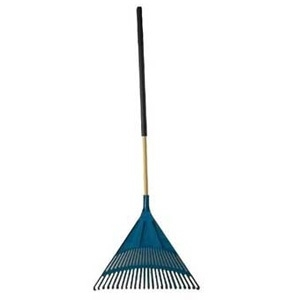 Agway Poly Leaf Rake Flat Head Fiberglass Handle 30""