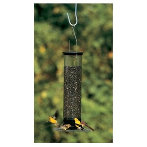 Yankee Tipper Squirrel Proof Bird feeder Black 21â€