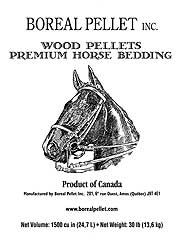 Boreal Wood Pellet Horse Bedding, 30lb