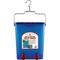 Free Range Poultry Blue Watering Cup Drinker, 4 gallons