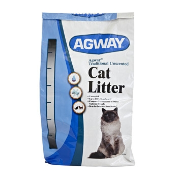 Agway Traditional Unscented Cat Litter, 40 lbs.