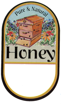 Honey Labels - Garden Hive (100 pk)