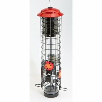 Audubon Ladybug Squirrel-Resistant Tube Bird Feeder