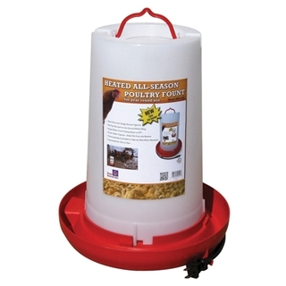 Heated Poly Poultry Waterer, 3 gallons