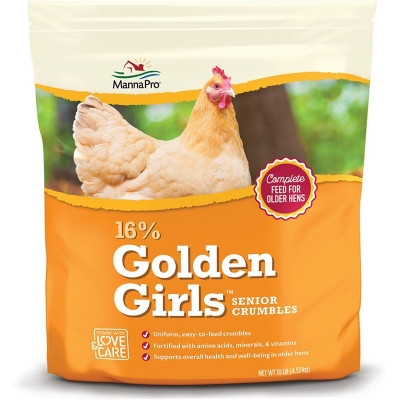 Manna Pro Golden Girls Senior Poultry Crumbles, 10 lbs.