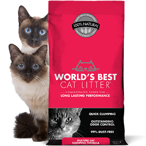 World's Best Scented / Clumping Multicat Litter 28lb
