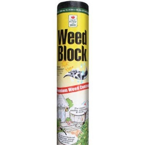 Weed Block Black Heavy-Duty Landscape Fabric, 6 x 50-Ft.