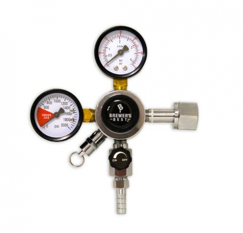 BREWER'S BEST® PRIMARY DUAL GAUGE REGULATOR WITH 5/16