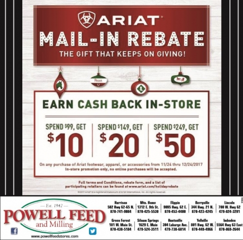 Ariat Holiday Mail In Rebate