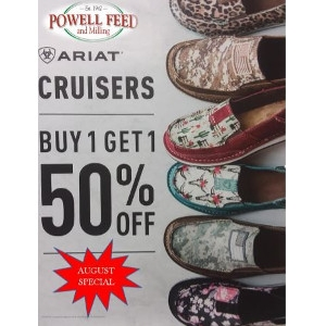 BOGO Half Off Ariat Cruisers