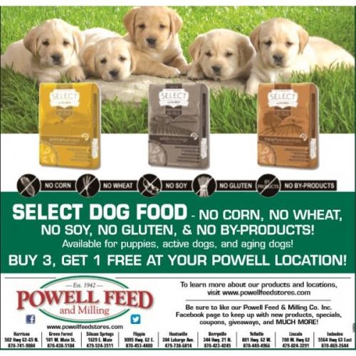 SELECT Dog Food- Buy 3, Get 1 Free