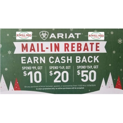 Ariat Mail-In Rebate