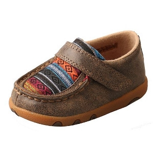 Infant Driving Moccasins – Bomber/Multi Serape