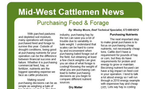 Purchasing Feed & Forage- Mid-West Cattlemen News