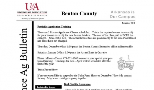 Benton County- Across The Fence Ag Bulletin