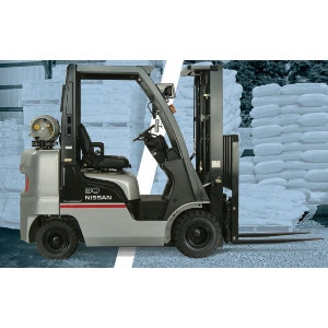 Nissan 5,000 Lb. Warehouse Forklift with Non-Marking Tires