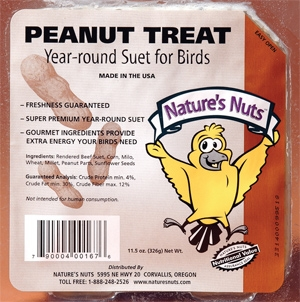 Nature's Nuts Peanut Treat Suet