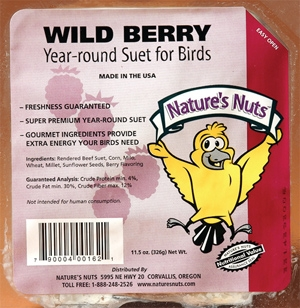 Nature's Nuts Wild Berry Suet