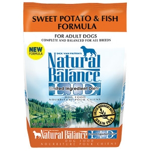 $6 Off Natural Balance Sweet Potato & Fish 26lb