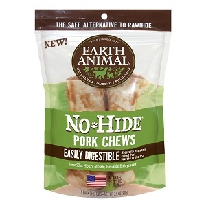 "Earth Animal No-Hide Pork 4"" Chews"