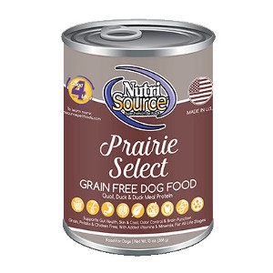 NutriSource® Prairie Select Grain Free Canned Dog Food