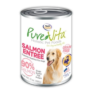 Pure Vita Salmon Entree 90% Salmon Grain Free Canned Dog Food