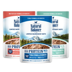 Natural Balance L.I.D. High Protein Formulas in Broth Wet Cat Food
