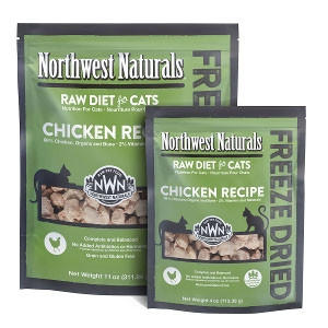 Northwest Naturals Raw Diet for Cats Freeze Dried Chicken Flavored Nibbles