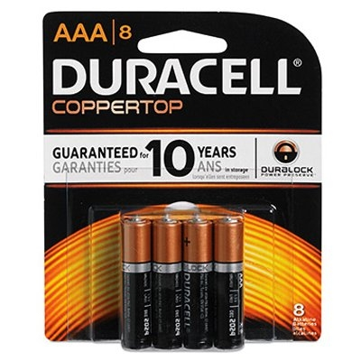 AAA Coppertop Batteries, 8 Pack