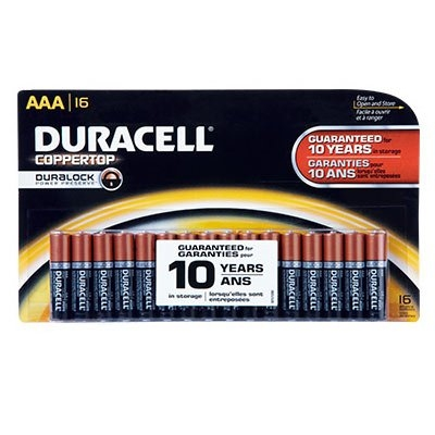 'AAA' Alkaline Batteries, 16 Pack