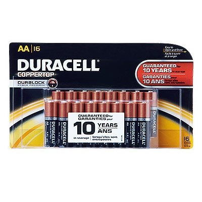 'AA' Alkaline Batteries, 16 Pack
