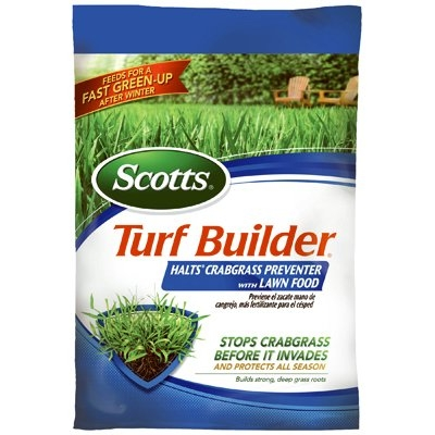 Turf Builder with Halts Crabgrass Preventer with Lawn Fertilizer, 30-0-4